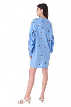 ESSENTIEL ANTWERP Платье с вышивкой из бисера и пайеток