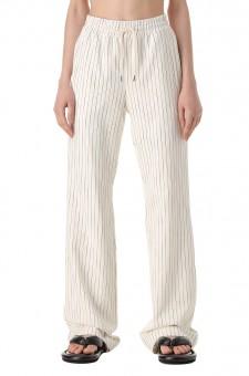 Удлиненные брюки в полоску