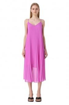 Плиссированное платье-комбинация
