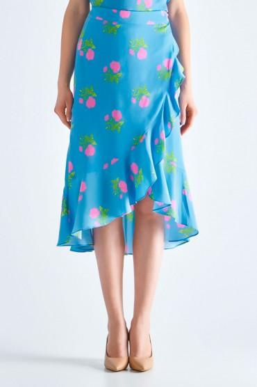 Юбка с цветочным принтом на запах ESSENTIEL ANTWERP ESAw19017