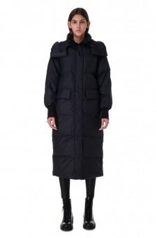 Удлиненная стеганая куртка-трансформер