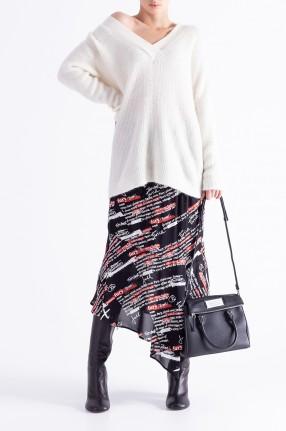 ESSENTIEL ANTWERP Асимметричная юбка с принтом