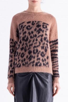 ESSENTIEL ANTWERP Леопардовый свитер
