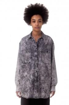 Джинсовая рубашка oversize