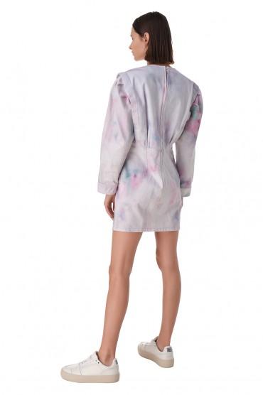 Джинсовое платье с принтом ETOILE ISABEL MARANT ETOI11002