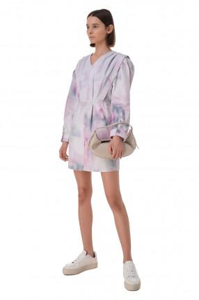 ETOILE ISABEL MARANT Джинсовое платье с принтом
