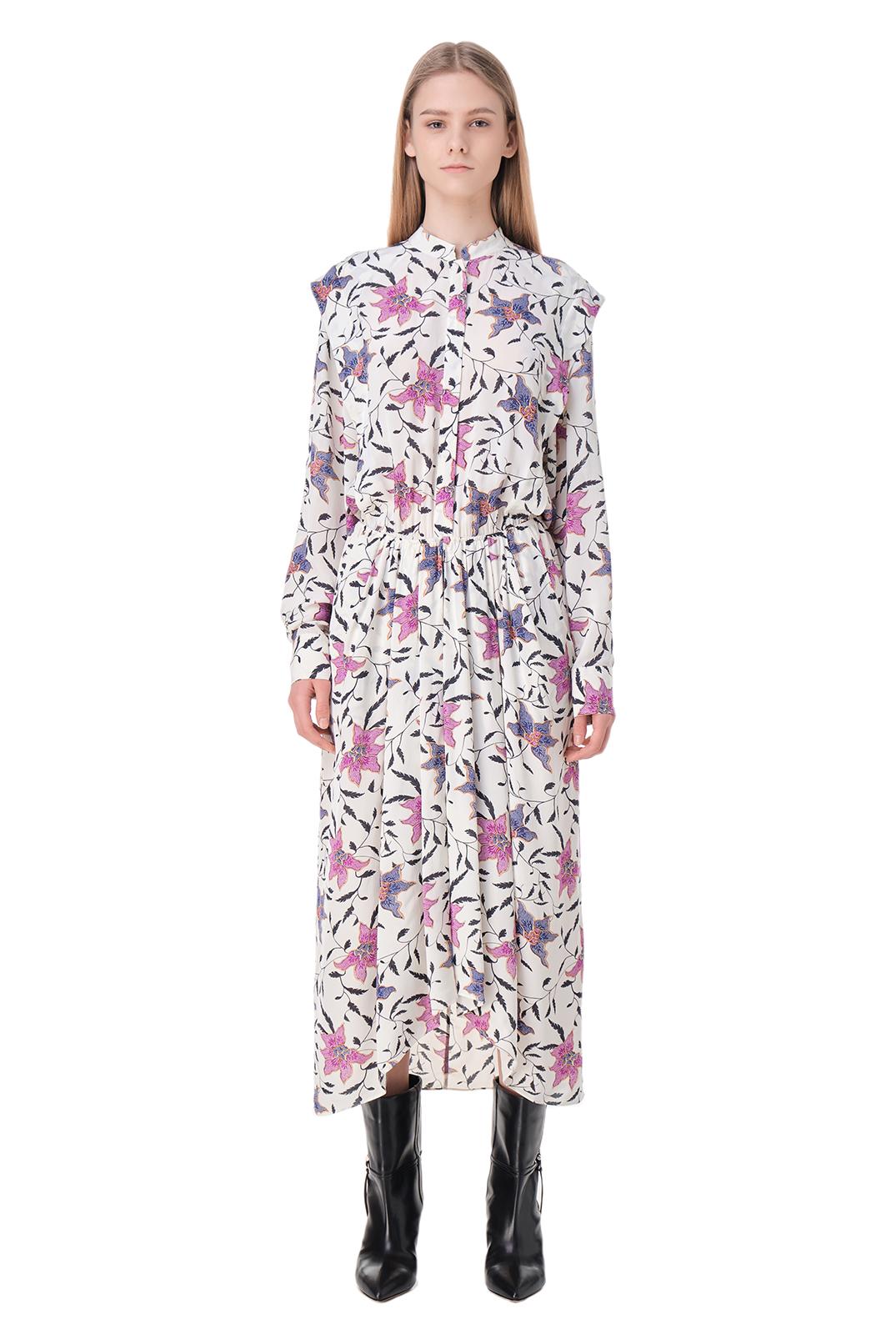 Платье с принтом ETOILE ISABEL MARANT ETOI11015