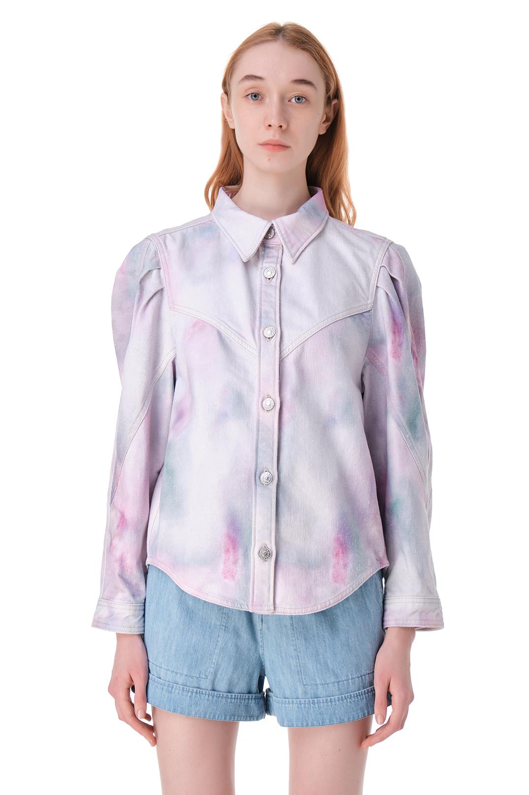 Рубашка с принтом ETOILE ISABEL MARANT ETOI11029