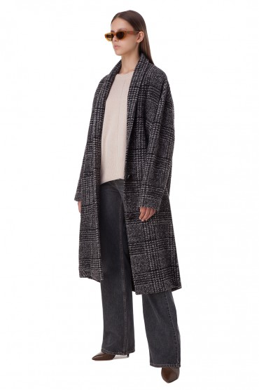 Пальто oversize в клетку ETOILE ISABEL MARANT ETOI20003