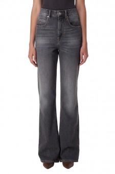 Удлиненные джинсы клеш