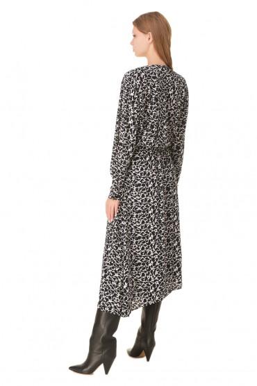 Платье с принтом ETOILE ISABEL MARANT ETOI20008