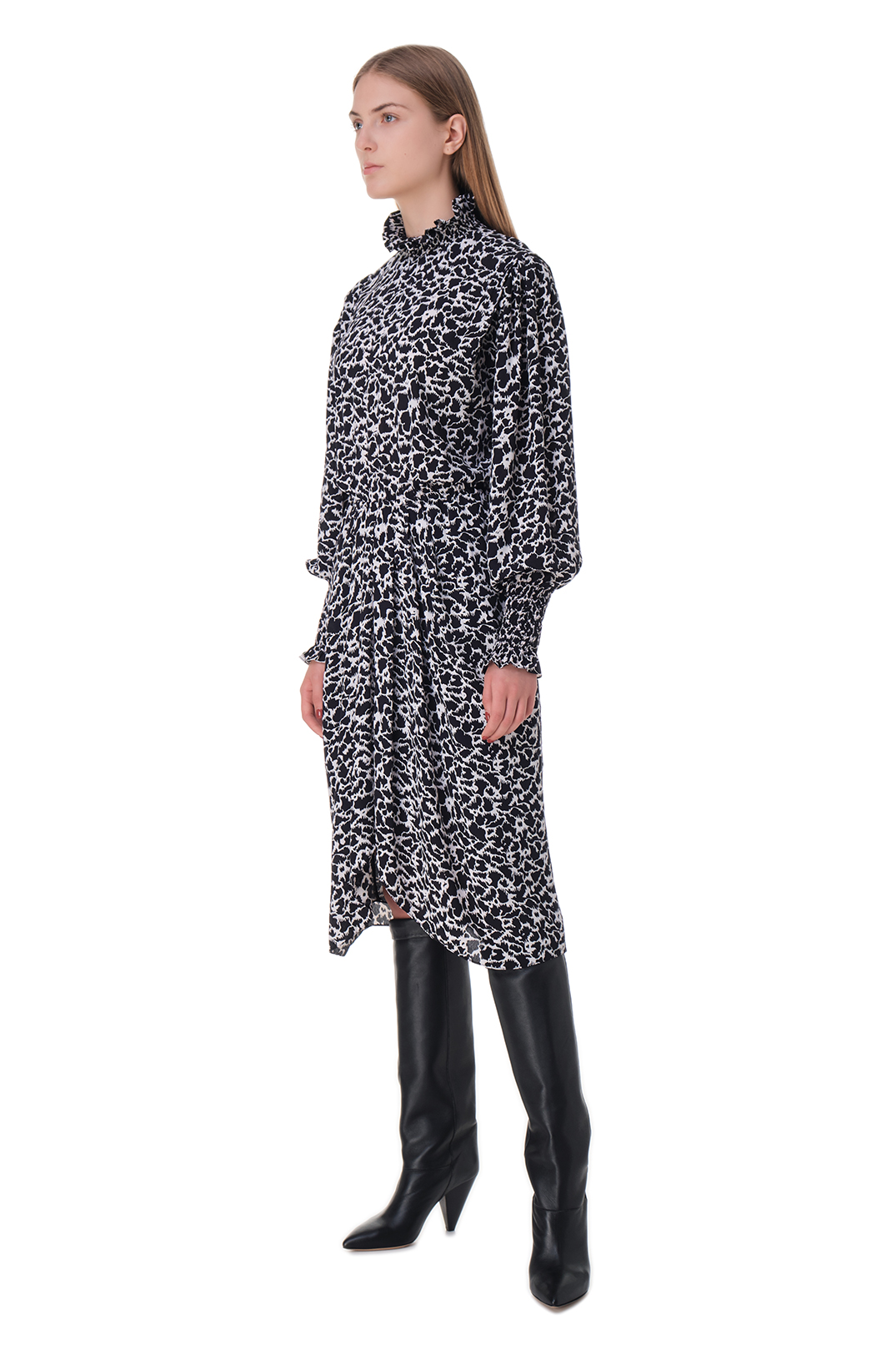Платье с принтом ETOILE ISABEL MARANT ETOI20009