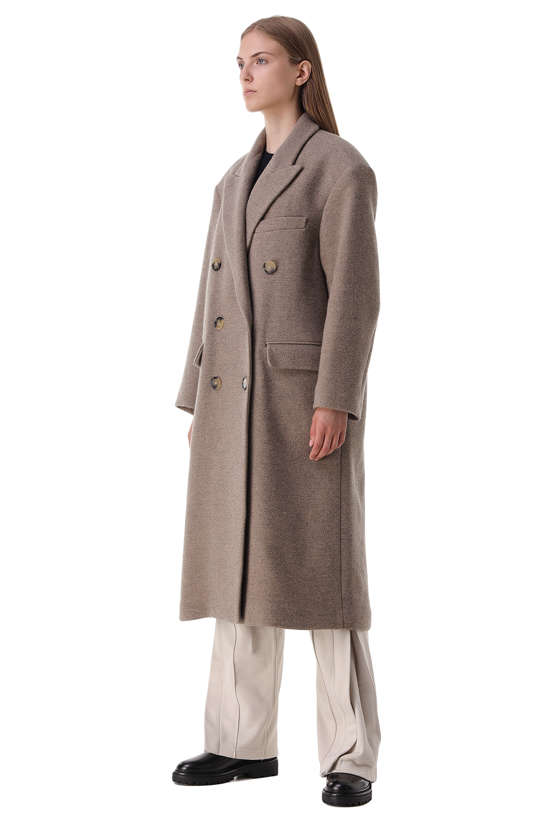 Двубортное пальто ETOILE ISABEL MARANT ETOI21013