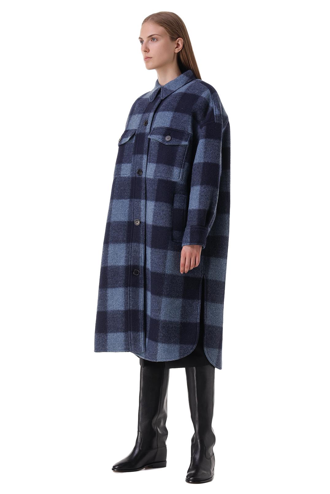 Пальто oversize в клетку ETOILE ISABEL MARANT ETOI21014