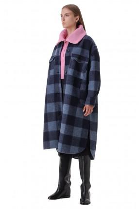 ETOILE ISABEL MARANT Пальто oversize в клетку