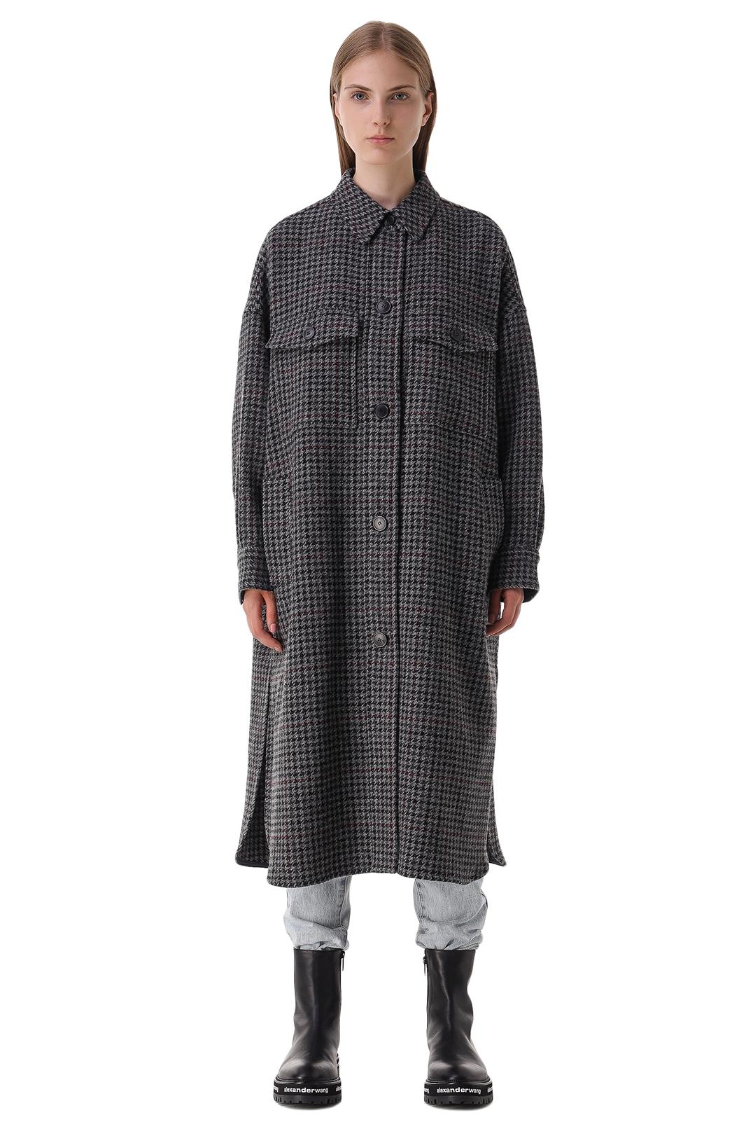Пальто oversize в гусиную лапку ETOILE ISABEL MARANT ETOI21016