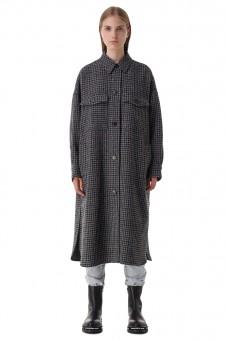 Пальто oversize в гусиную лапку