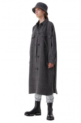 ETOILE ISABEL MARANT Пальто oversize в гусиную лапку