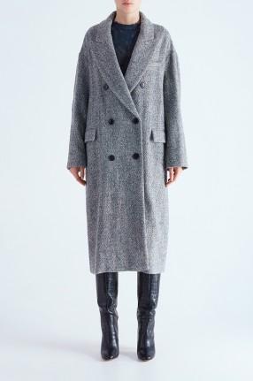ETOILE ISABEL MARANT Двубортное пальто oversize