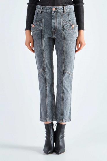 Укороченные джинсы ETOILE ISABEL MARANT ETOI29011