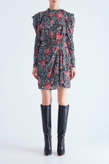 Платье с цветочным принтом ETOILE ISABEL MARANT ETOI29013