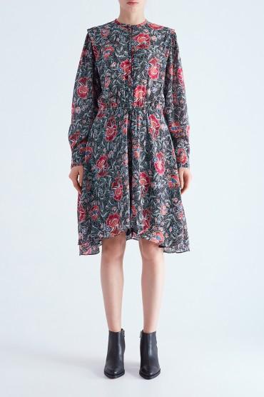 Платье с цветочным принтом ETOILE ISABEL MARANT ETOI29014