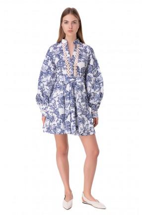 FORTE DEI MARMI COUTURE Платье с принтом