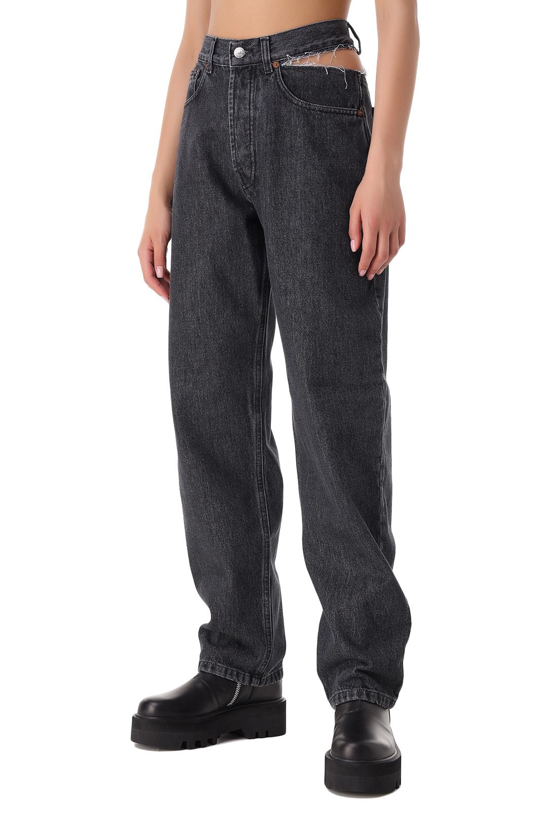Удлиненные джинсы с разрезом FORTE DEI MARMI COUTURE FOR21003