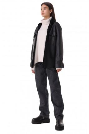FORTE DEI MARMI COUTURE Удлиненные джинсы с разрезом
