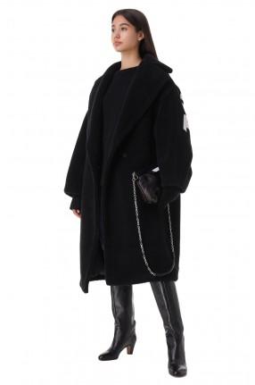 FORTE DEI MARMI COUTURE Пальто из эко-меха oversize