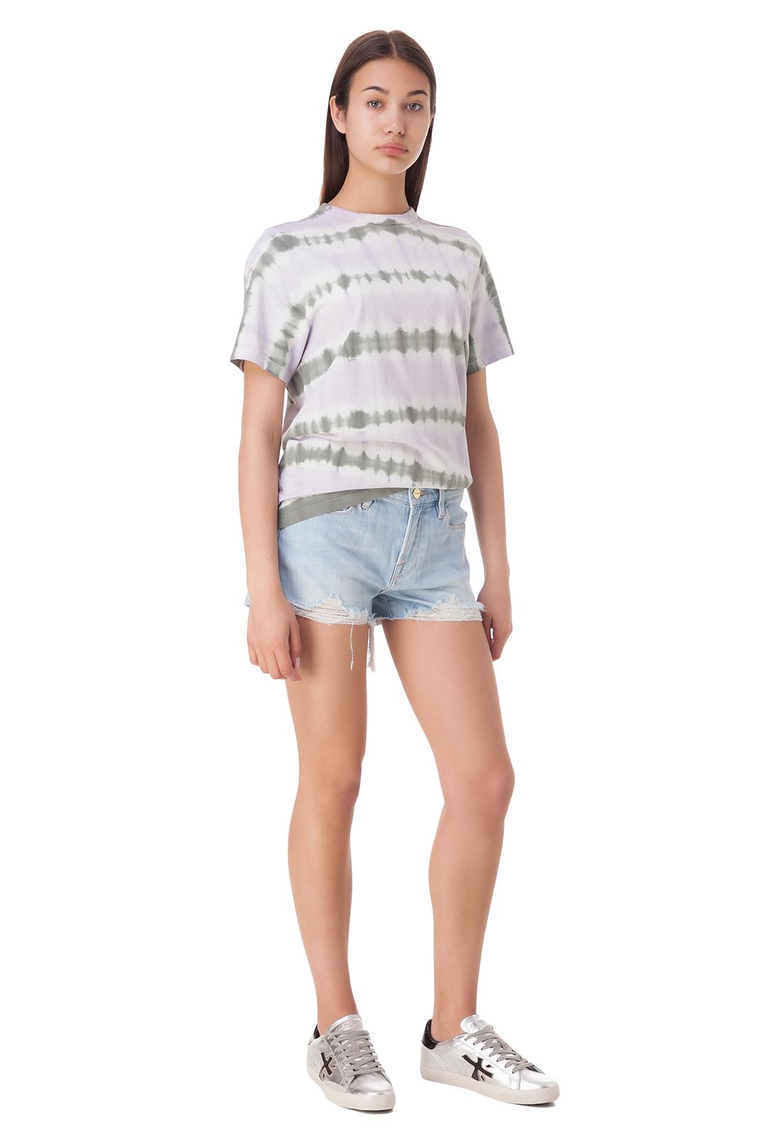 Джинсовые шорты с эффектом потертостей FRAME FRM10002