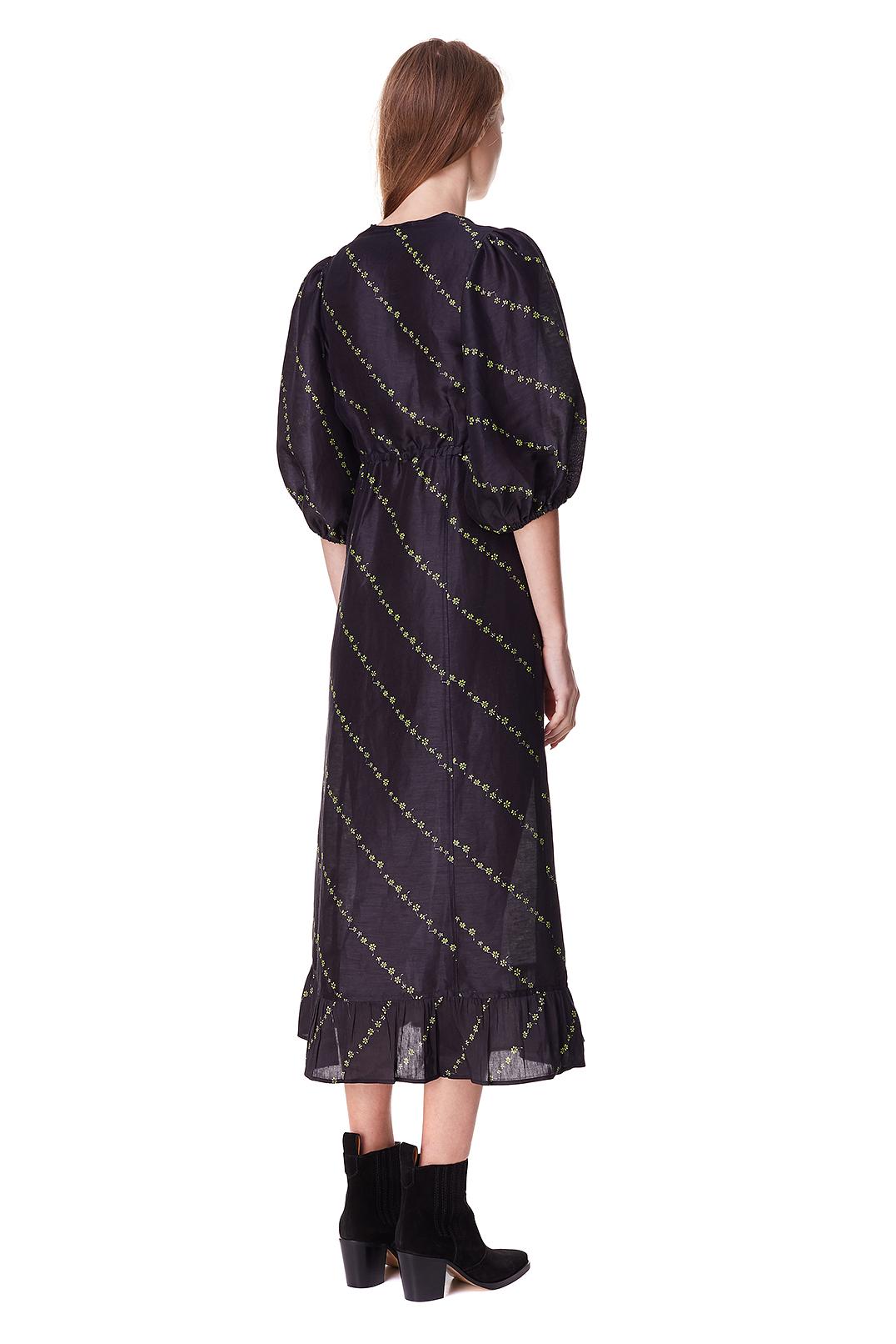 Платье с принтом GANNI GANp10018