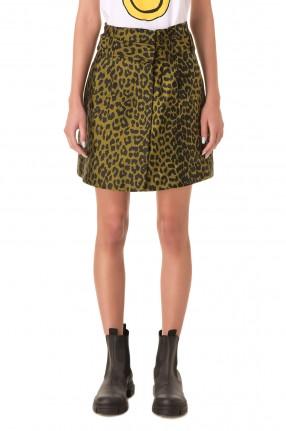 GANNI Леопардовая юбка