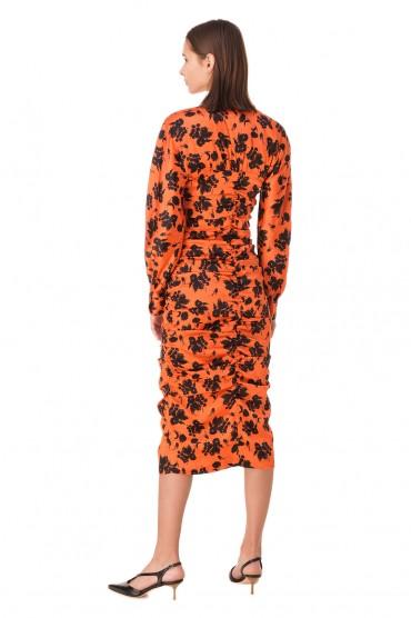 Платье с принтом GANNI GANp11030