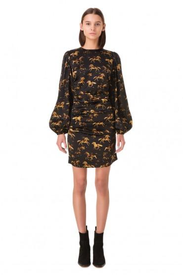 Платье с принтом GANNI GANp11032