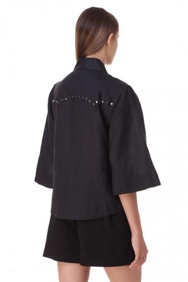 Рубашка в заклепках GANNI GANp20002