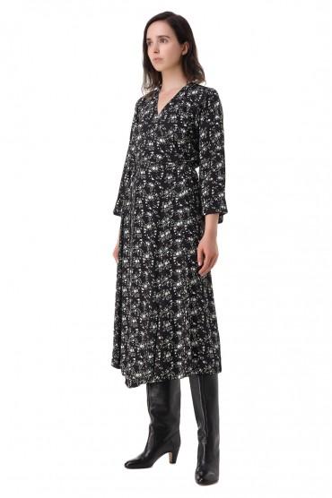 Платье с принтом GANNI GANp21008