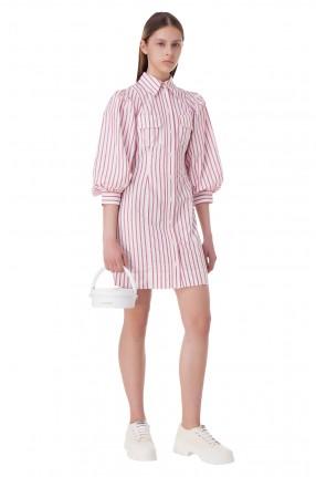 GANNI Платье-рубашка в полоску