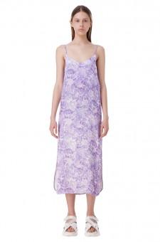 Платье-комбинация с цветочным принтом