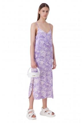 GANNI Платье-комбинация с цветочным принтом