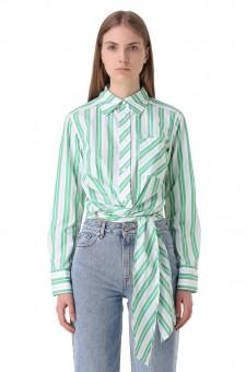 Укороченная рубашка в полоску