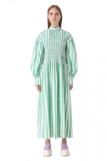 Платье в полоску GANNI GANw11011