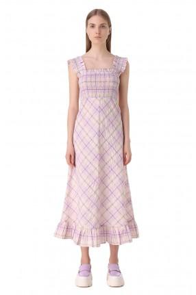 GANNI Платье с принтом