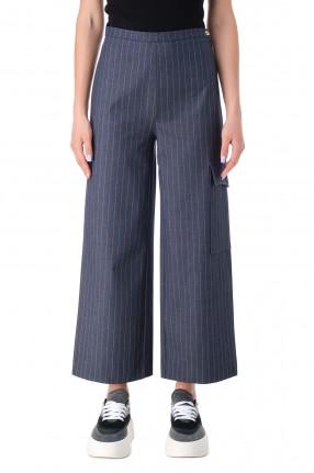 GANNI Укороченные брюки в полоску