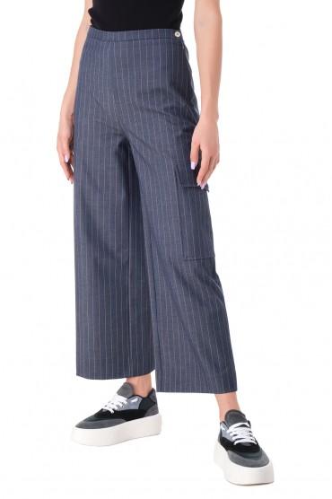 Укороченные брюки в полоску GANNI GANw11029