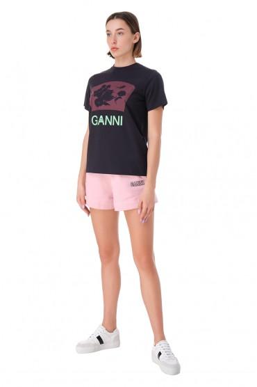 Шорты с логотипом GANNI GANw11040