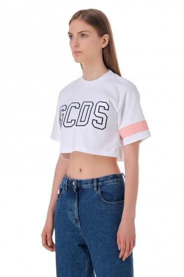 Укороченная футболка с логотипом GCDS GCDS11008
