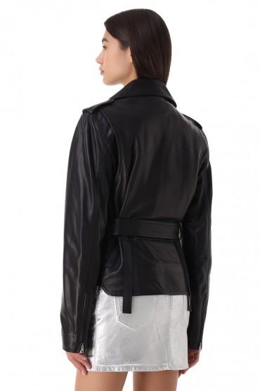 Кожаная куртка косуха HELMUT LANG HLp21020