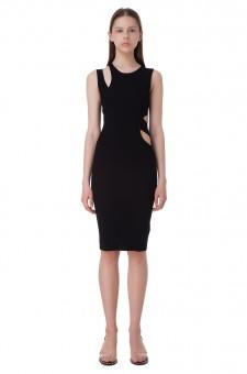 Асимметричное платье с вырезными деталями