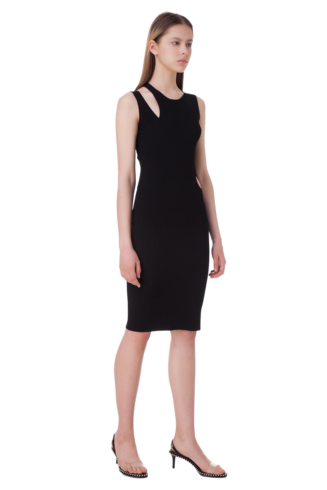 Асимметричное платье с вырезными деталями HELMUT LANG HLw10013